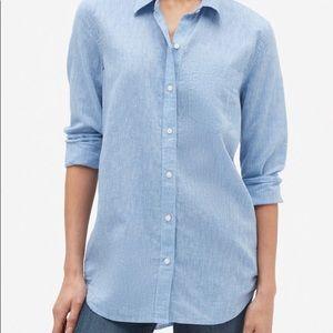 NWT Gap Linen Boyfriend Shirt